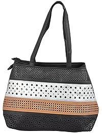 Gouri Bags Stylish Trendy Designer Cut Work Spacious Handbags Shoulder Leather Bag Women Ladies Girl Purse Party...