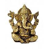 Redbag Elephant Head God Ganesha Brass Statue ( 16.51 Cm, 13.34 Cm, 8.26 Cm )