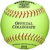Wilson A9010 Collegiate Series Softball (12-Pack), 12-Inch, Optic Yellow, 12-Inch/Optic Yellow