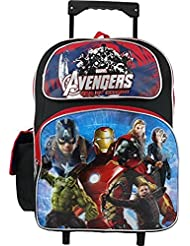 """Grannys Best Deals (C) Marvel Avengers Age Of Ultron Rolling 16"""" Backpack Blue Brand New!"""