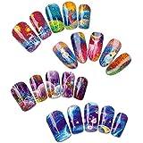 Impasto Patterns Water Nail Tattoo Transfers, Set Of 4