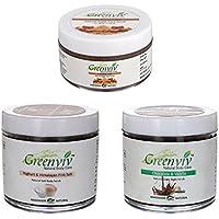 Greenviv Natural Combo Of Yoghurt & Himalayan Pink Salt Body Scrub (100 Gm), Chocolate & Vanilla Body Scrub (100...