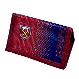 West Ham United FC Football Team Fade Velcro Fasten Wallet