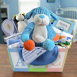 Welcome Home Baby Boy Medium Gift Basket: Amazon.com ...