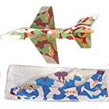 100 Piece Bulk Lot Of Camouflaged Styrofoam Military Toy Jet Airplane Flying Gliders Great For Party Favors Or...