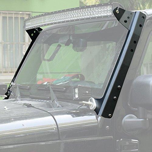 Eyourlife 50″ LED Light Bar Upper Windshield Mounting Brackets For 2007-2014 Jeep Wrangler JK