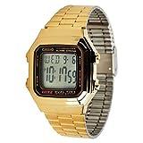 Casio A178WGA-1A Mens Gold Tone Stainless Steel Digital Watch Chronograph A178WG