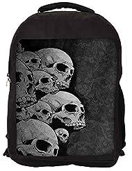 Snoogg Dark Skull Death Backpack Rucksack School Travel Unisex Casual Canvas Bag Bookbag Satchel