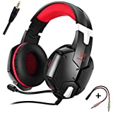 KOTION EACH G2000 3.5mm Stereo Gaming LED Lighting Over-Ear Headphone With Mic For PC Computer Game With Noise... - B01GZJ8D6C