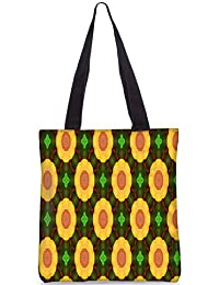 Snoogg Vintage Kaleidoscope Floral Pattern Fashion Printed Shopping Shoulder Lunch Tote Bag For Women