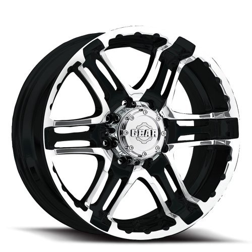 Gear Alloy Double Pump 16×8 Black Wheel / Rim 5×4.5 with a 0mm Offset and a 83.82 Hub Bore. Partnumber 713MB-6806500