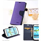 Mercury Fancy Wallet Style Flip Carry Case Cover For Samsung Galaxy Grand 2 G7106 G7102 Grand2 - Purple (only...