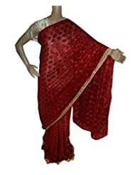 Beautiful RUDA Designer Phulkari Embroidered Saree-JS1128