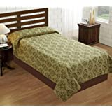 House This! Tradition Cotton Double Bed Cover - Green (BC-533)
