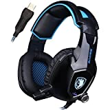 UL SADES AW50 Gaming Headset With Fixed Microphone Stereo Sound / USB 2.0 / Vibration Module / Noise Insulation...