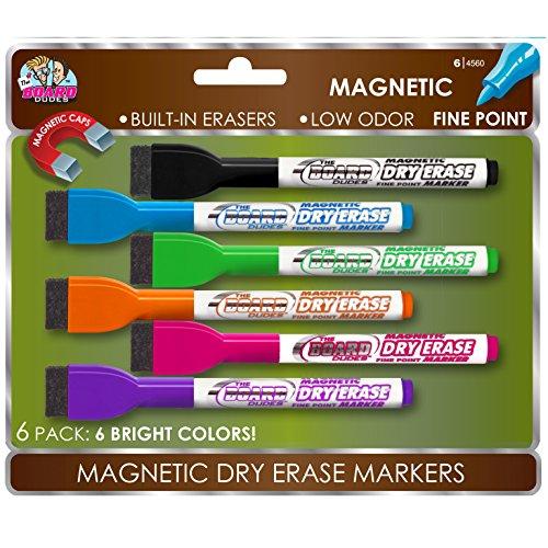 Board Dudes SRX Magnetic Dry Erase Markers, 6-Pack