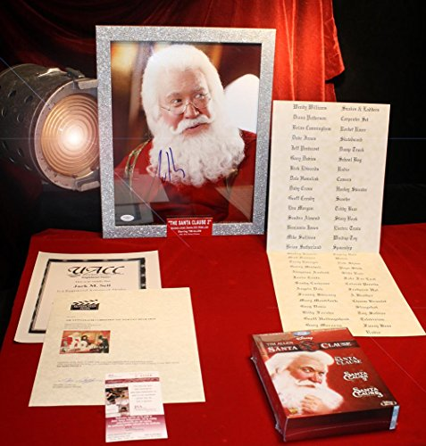 SANTA CLAUSE PROP Christmas Naughty Nice List, Signed TIM ALLEN Autograph, COA, UACC, Frame, Blu Ray DVD set -shop for Blu-ray, DVD, and Movie-themed products