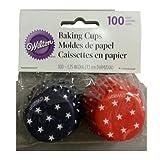 Wilton 415-2314 Patriotic Baking Cups, Mini, 100-Pack