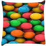 Snoogg Colorful 3D Balls Cushion Cover Throw Pillows 16 X 16 Inch
