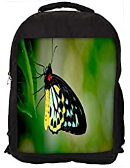 """Snoogg Butterfly In Leaf Casual Laptop Backpak Fits All 15 - 15.6"""" Inch Laptops"""