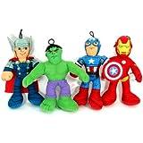 "Marvel Avengers - Iron Man, Captain America, Thor And Hulk - 9"" Plush Set"