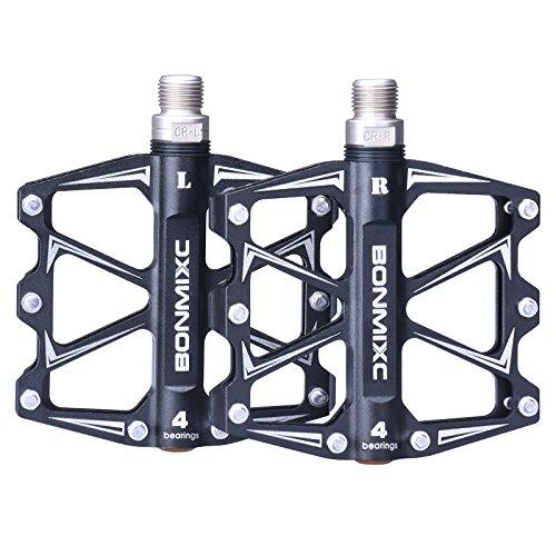 Bonmixc Mountain Bike Pedals 9/16″ Cycling Four Pcs Sealed Bearing Pedals