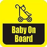 SamritikaVentures Baby On Board, Half Hide With Black, Windows, Car Stickers (BUY 2 GET 1 FREE)