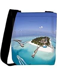 Snoogg Unique Island Designer Womens Carry Around Cross Body Tote Handbag Sling Bags