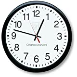 """Wall Clock, 12"""", Plastic, Black Frame/White Dial, Sold As 1 Each"""