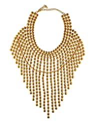 Mistik Golden Non-Precious Metal Necklace Set For Women