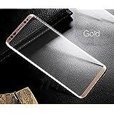 Samsung Galaxy S8 Plus Tempered Glass 4D Premium Screen Guard For Samsung Galaxy S8 Plus Scratch Protector Gold Edges [With Precise Sensor Holes]