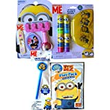 Minions Movie Exclusive Cosmetic Gift Set Nail Kit With Lip Balm Set And Pouch With Minion Glow Wand And Despicable...