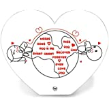 Kisses And Hugs Printed Table Top - Heart Table Top 1, Home Décor Items, Decorative Plates, Decorative Tile, Valentine...