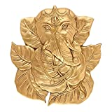 God Ganesha Leaf Wall Hanging Brass Figurine Lord Indian Deity Ganpati Ganesh Sculpture Decorative Gifts