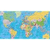 WORLD POLITICAL MAP WALLPAPER ON FINE ART PAPER HD QUALITY WALLPAPER POSTER