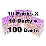 100-dart Refill Set For Nerf N-strike Elite, 100-dart Lot, Refill In Bulk: Purple Darts 100 Pack For