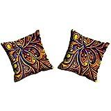 MeSleep Digitally Printed Abstract Micro Fabric 2 Piece Cushion Cover Set - Blue (CDEK-06-2)