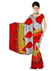 Anand Sarees Faux Georgette Self Print Saree - B013SYRYTE