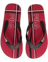Fila Men's Red, Black And White Hawaii Thong Sandals - 6 UK/India (40 EU)
