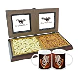 Chocholik Premium Gifts - Amazing Dry Fruit Combination With Diwali Special Coffee Mugs - Gifts For Diwali