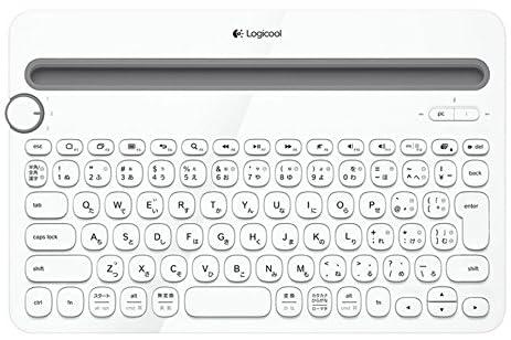 LOGICOOL Bluetoothマルチデバイス キーボード ホワイト k480