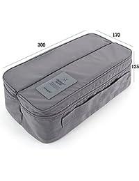 Glive's Travel Handle Divided Underwear Socks Undergarments Waterproof Pouch Organizer Bag