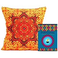 Gifts By Meeta Elegant Printed Cushion With Filler And Shubh Diwali Card Combo For Home Décor And Diwali Gifts...