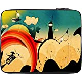 """Snoogg The Abstract Life 2559 15"""" Inch To 15.5"""" Inch To 15.6"""" Inch Laptop Netbook Notebook Slipcase Sleeve Soft..."""
