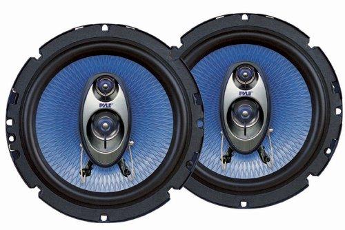 Pyle PL63BL 6.5-Inch 360-Watt 3-Way Speakers (Pair)