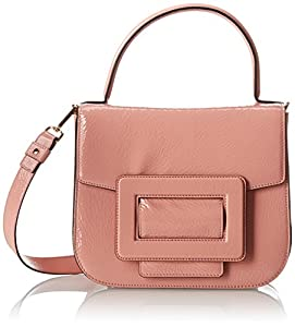 Orla Kiely Patent Leather Mabel Bag,Shell Pink,One Size