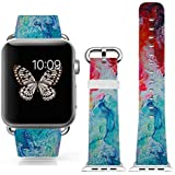 3C-LIFE Iwatch Cute Lovely Band For Apple Watch Sport 38mm Space Aluminum Case With White Sport Band St.patrick...