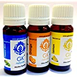 GK NATURALS Pain Relief Skin Oil - ( For Reducing Muscle Pain) Premium Aroma Essentials Combo - Pack Of 3 (Lemon...