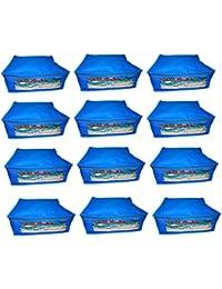 Abhinidi Non-Woven Multipurpose Large 10inc Sareee Cover 12PC Capacity 10-15 Units Saree Each