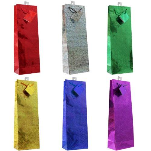 Hologram Gift Bags, Assorted Colors (Bottle)